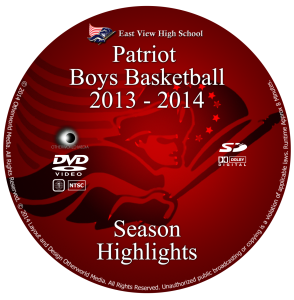 EVHS Boys Basketball 2013-2014 Highlight Reel DVD Cover
